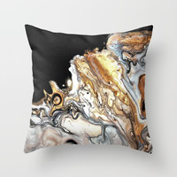 Silver clouds Throw Pillow by ArtByBinny
