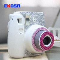 Fujifilm Instax Mini 8 Camera Water Diamond Stickers Personality Fashion Pasters Decoration Protection Camera Accessories