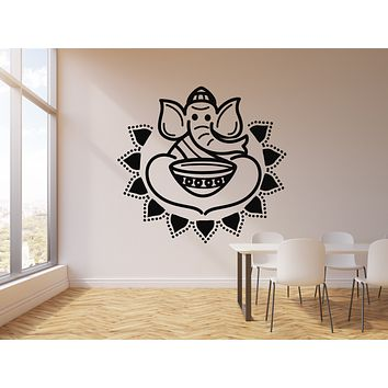 Vinyl Wall Decal Indian Cuisine Hot Spicy Food Elephant Stickers Mural (g1857)