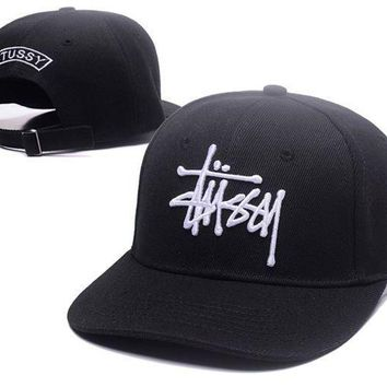 Fashion Stussy Embroidered Cotton Baseball Cap Hats In Three Colors