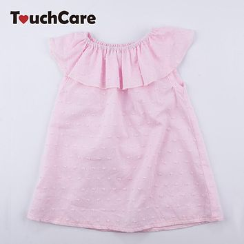 Baby Girls Sleeveless Dresses Newborn Summer Ruffles Clothes Infant 1st Birthday Christening Dress Party Wedding Princess