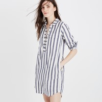 Striped Lace-up Shirtdress : | Madewell
