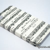 IPHONE 4 CASE MUSIC Note Chart Paper Pattern Song Melody lyrics