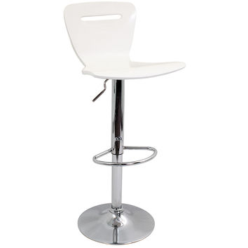 H2 Bar Stool White by Lumisource