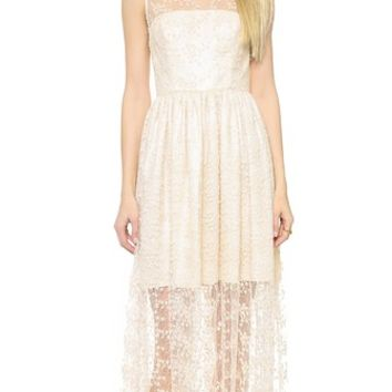 Jill Jill Stuart Embroidered Lace Gown