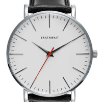 The classic slim steel wrist watch: Melano top grain Italian calf leather strap