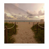 """Rosie Brown """"Walkway To Heaven"""" Coastal Photography Luxe Square Panel"""