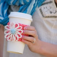Coffee Cup Cozy/ Cape Daisy