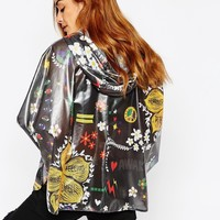 Adidas Originals Pharrell Williams 3 Stripe Festival Print Poncho Jacket
