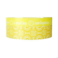 Washi Tape - Yellow lace & new beginnings WT547 2 rolls set WT554