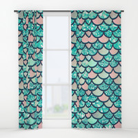 Mermaid Dream Window Curtains by Printapix