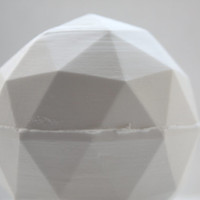 Geometric faceted polyhedron white vase made from stoneware fine bone china - geometric decor