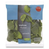 Ready Washed Spinach Waitrose at Ocado