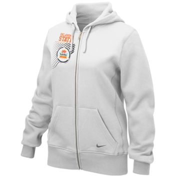 Nike Oklahoma State Cowboys 2012 Fiesta Bowl Full Zip Hoodie - White - http://www.shareasale.com/m-pr.cfm?merchantID=7124&userID=1042934&productID=505505760 / Fiesta Bowl Gear