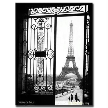 Views of Paris by Sally Gall-Gallery Wrapped Canvas Art