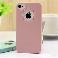 CP02 Cutie Sweet Heart & Flower Funny Pink Back Case Cover Skin For iPhone 4S/4