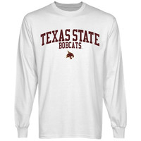 Texas State Bobcats Team Arch Long Sleeve T-Shirt - White