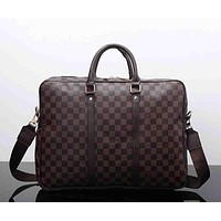 Louis Vuitton Leather Satchel Handbag Shoulder Bag Crossbody