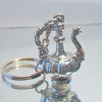 Genie Lamp Keychain Arabic Teapot Key Ring Unisex Accessories
