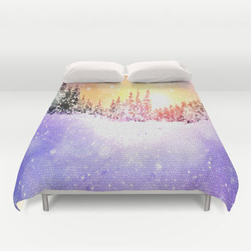 winter mosaic by healinglove Duvet Cover by Healinglove art products
