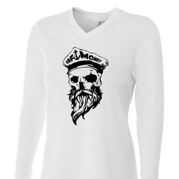 Performance Womens Moisture Wicking, Odor Resistant t-shirt - Ghost Skull
