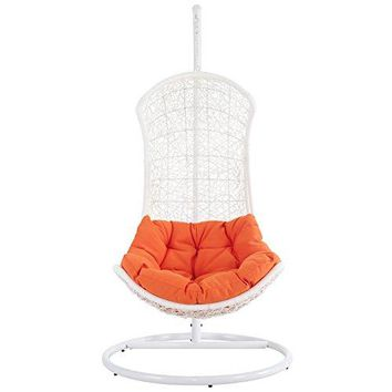 Modway The Endow Rattan Outdoor Wicker Patio Swing Chair Set
