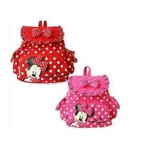HOT Small Minnie Mouse Little Baby Children Girls Backpacks Cartoon School Bag for Kids