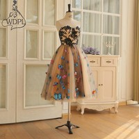 High Quality Short Prom Dresses Vintage A Line Sweetheart Pretty Butterfly Appliqued Formal Party Gowns Elegant Cocktail Dresses