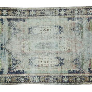 4x6 Distressed Oushak Rug