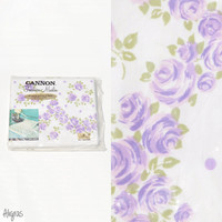 Vintage Floral Bedding // Cannon sheets // Purple Flowers // Rose Dream // Full Queen Double // Flat Sheet // Flower Crown