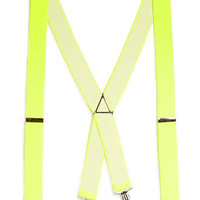 NEON YELLOW SUSPENDERS - Limited Edition  - Clothing