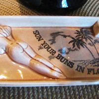 vintage Florida souviner ashtray