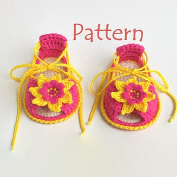Baby sandals pattern Crochet baby sandals pattern Baby summer sandals Girls crochet sandals Baby crochet sandals Baby flip flops Pattern PDF