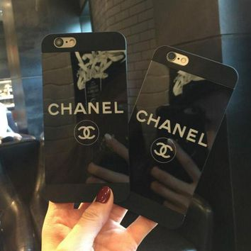 CHANEL Popular Stylish Personality Black iPhone Phone Cover Case For iphone 6 6s 6plus 6s-plus 7 7plus Soft Shell Hard Shell + Best Gift I