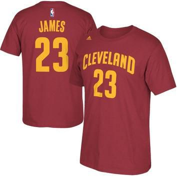 LeBron James Cleveland Cavaliers adidas Net Number T-Shirt ¨C Wine