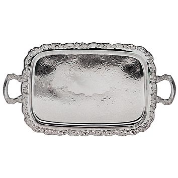 "Elegance Silver ""Ashley"" Collection Service Tray"