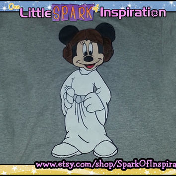 Princess Leia Minnie Mouse Star Wars Weekend Disney Inspired T-Shirt