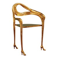 BD Barcelona Salvador Dalí Leda Chair, Luxury Gold Chair, Buy online at LuxDeco