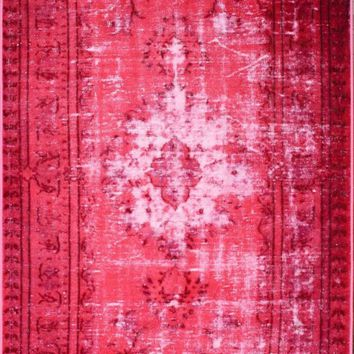 nuLOOM Machine Made Chroma Overdyed Style Rug Pink Rug