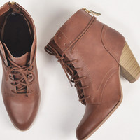 Stitched Laced Up Booties