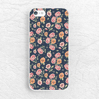Vintage Blue floral phone case for iPhone 6 5 5c, Sony z1 z2 z3 compact, LG g2 g3 nexus 5, HTC one m7 m8, Moto x Moto g, Nokia lumia -P18