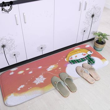 Autumn Fall welcome door mat doormat PEIYAUN Cartoon Snowman and Glowing Christmas Tree Flannel  Factory Custom Made Floor Mat Carpets for Bedroom AT_76_7