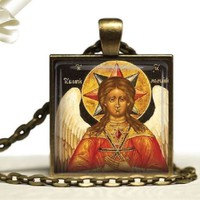St Sophia Russian Orthodox Icon Pendant Necklace Wisdom of God