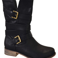 Strappy Boots: Black