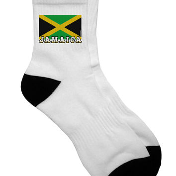 Jamaica Flag Adult Short Socks