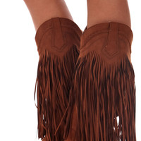 Dark Rust Fringe Cowgirl Boots