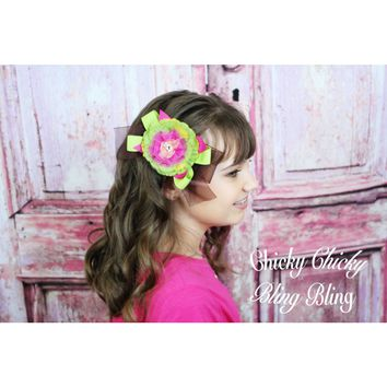Whimsical Fancy Flower Hair Bow
