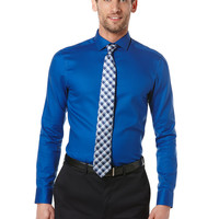 Slim Fit Solid Oxford Dress Shirt