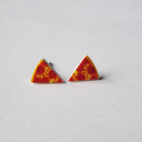Slice of Pizza Earrings Fun Novelty Gift