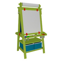 Little Partners Deluxe Learn and Play Art Center Easel | Wayfair